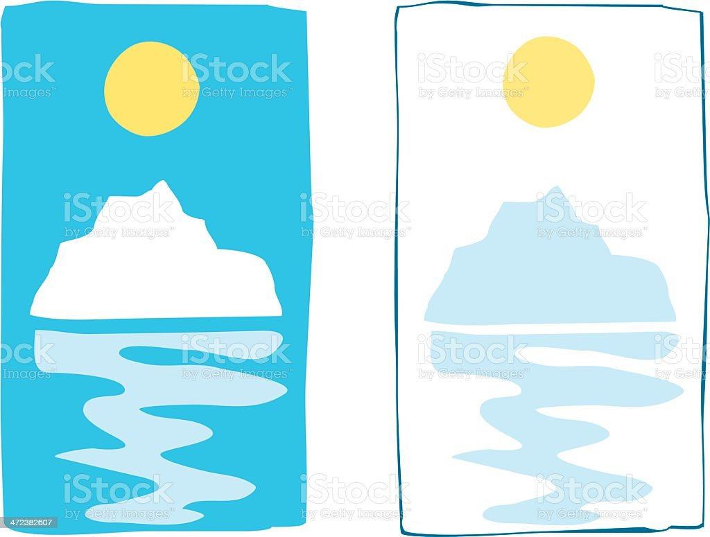 Iceberg Sun royalty-free stock vector art