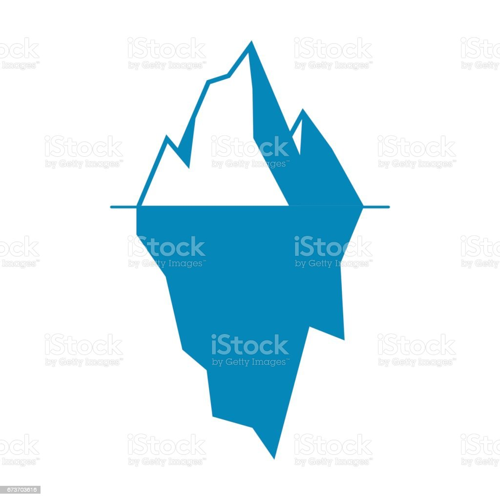 Iceberg vector icon isolated on white background. vector art illustration
