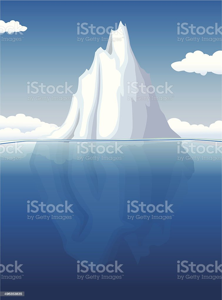 Iceberg stock vecteur libres de droits libre de droits