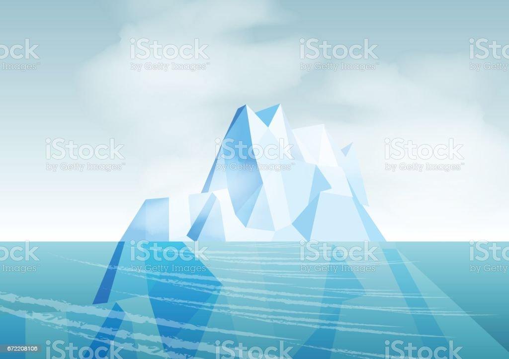 Iceberg - Vector Illustration vector art illustration