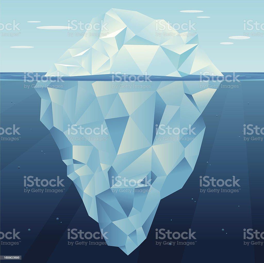 Iceberg vector vector art illustration
