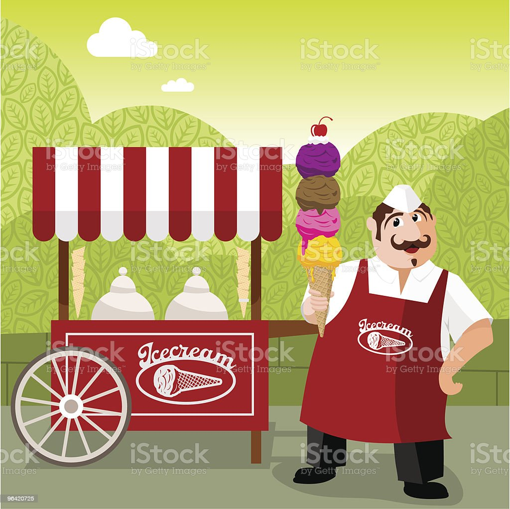 icecream man royalty-free stock vector art