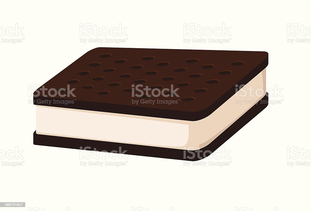 ice-cream sandwich vector art illustration
