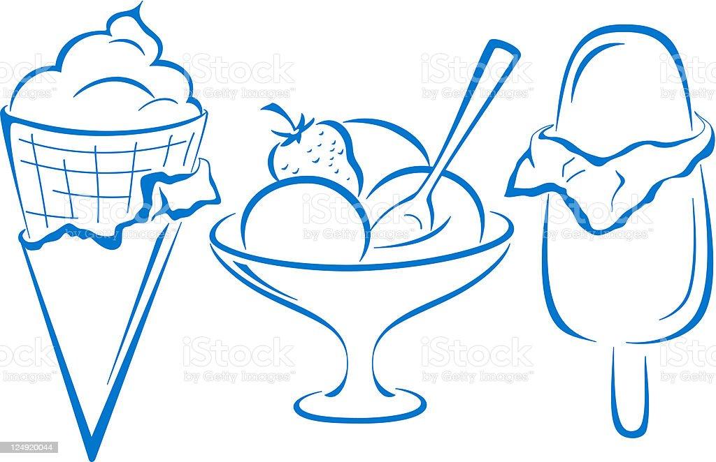 Ice-cream, set vector art illustration