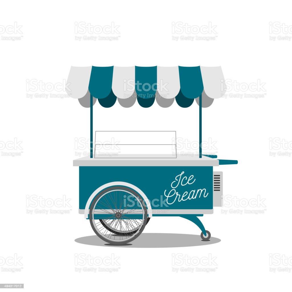 Ice-Cream Shop on Wheels for your Design vector art illustration