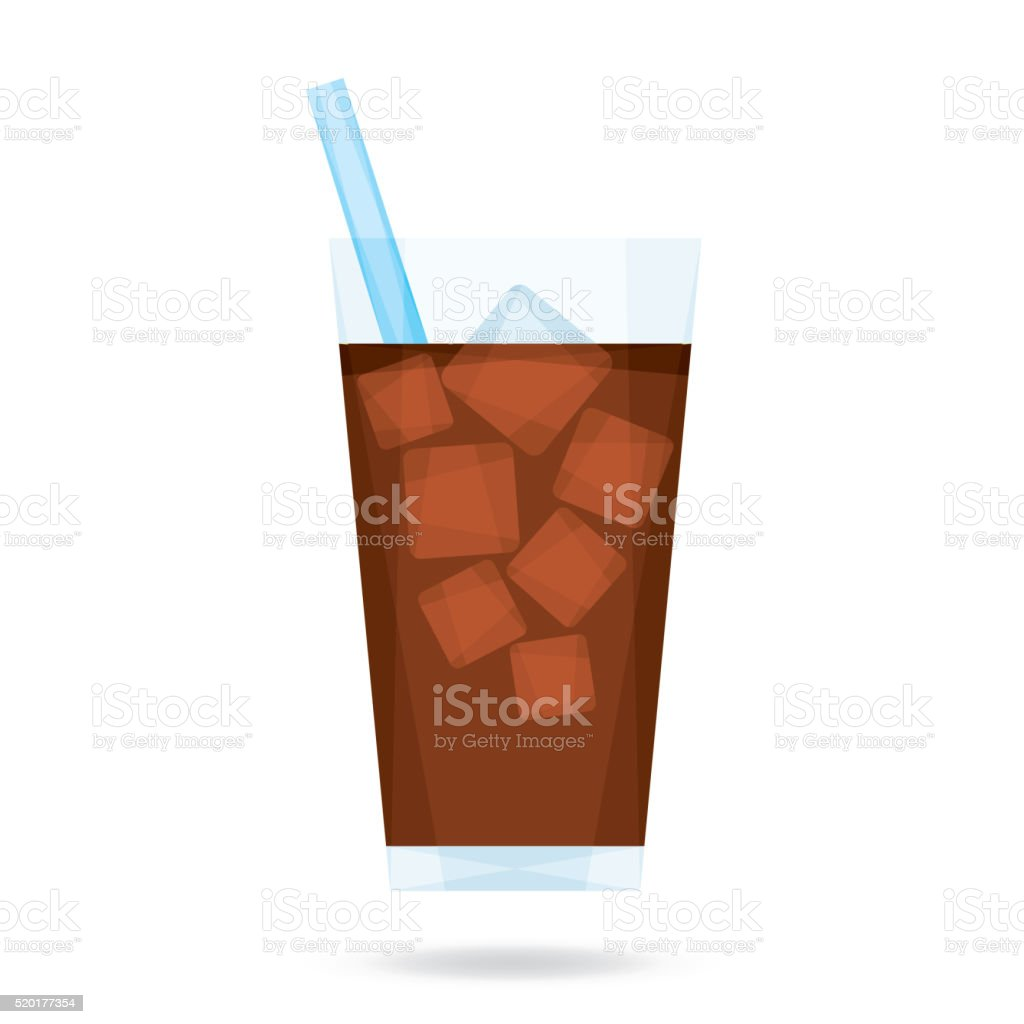 Iced Coffee vector art illustration