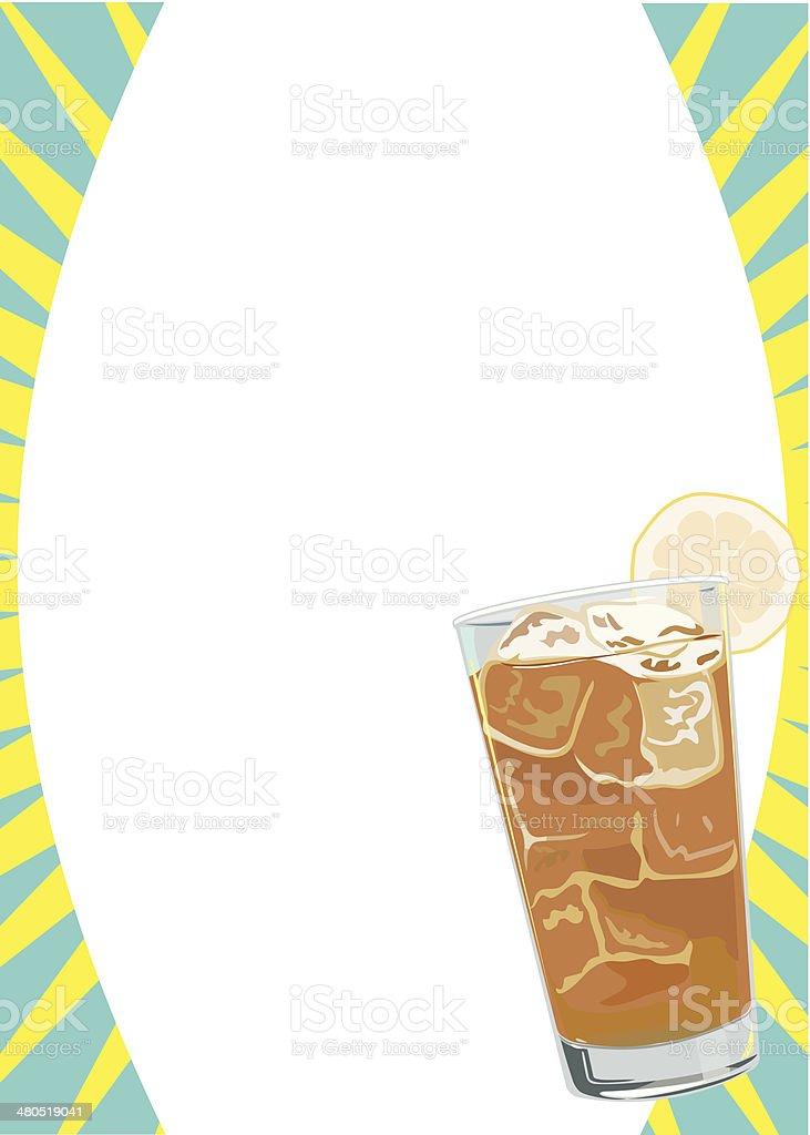 Iced Tea Frame C vector art illustration