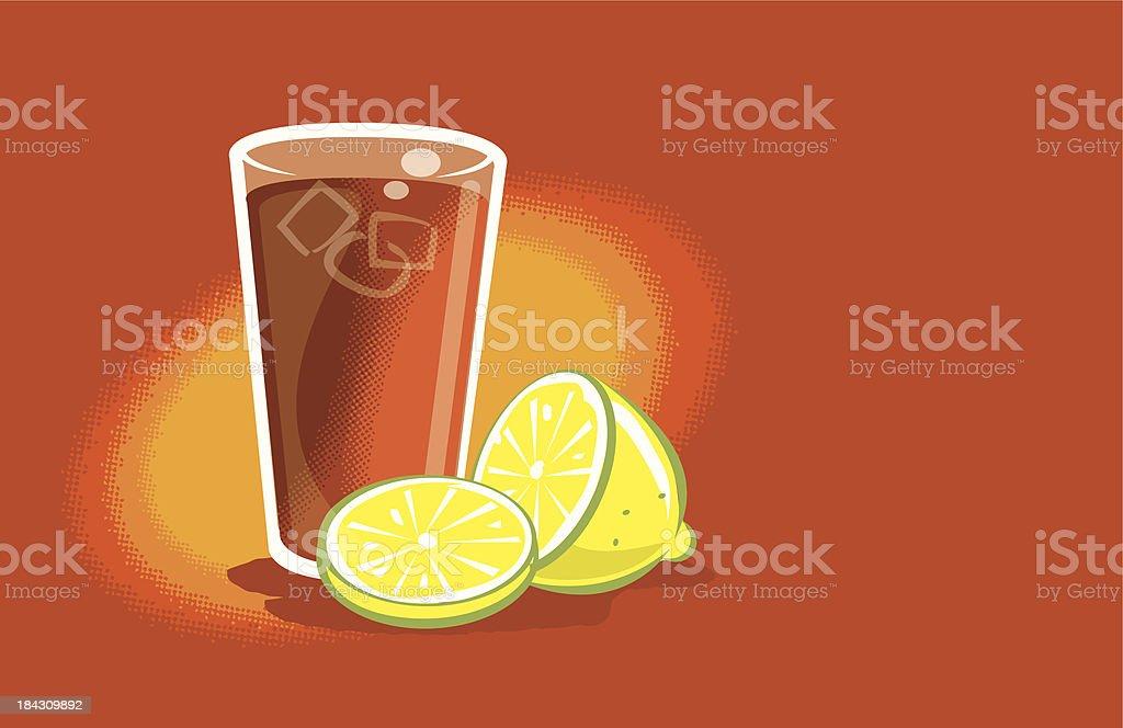 Iced Tea vector art illustration