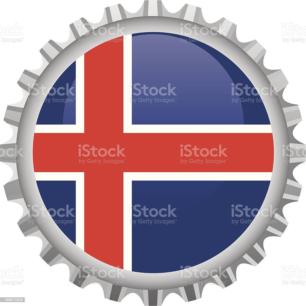 Iceland bottle top royalty-free stock vector art