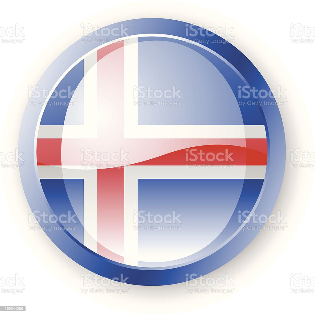 Iceland Flag Icon royalty-free stock vector art