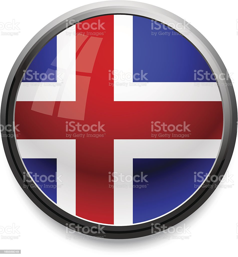 Iceland - flag icon royalty-free stock vector art