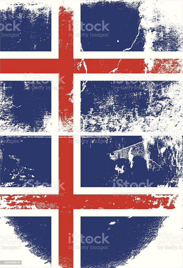 Iceland Grunge flag royalty-free stock vector art