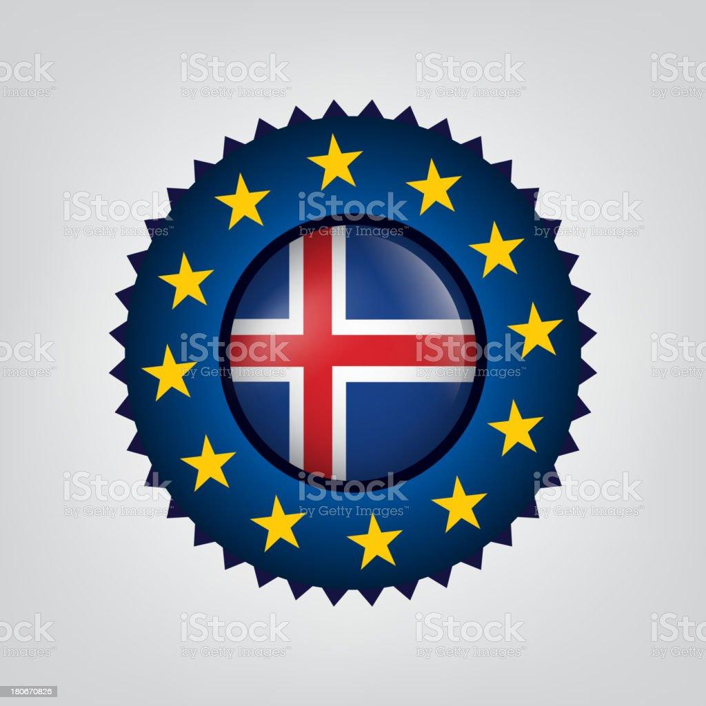Iceland seal, Flag, (Vector) royalty-free stock vector art