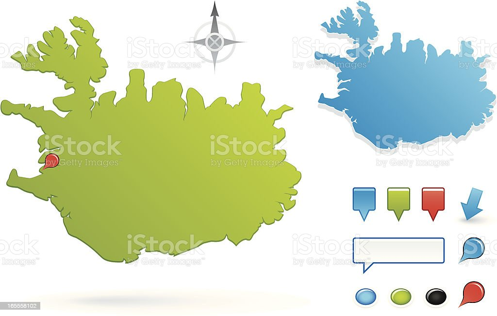 Iceland royalty-free stock vector art
