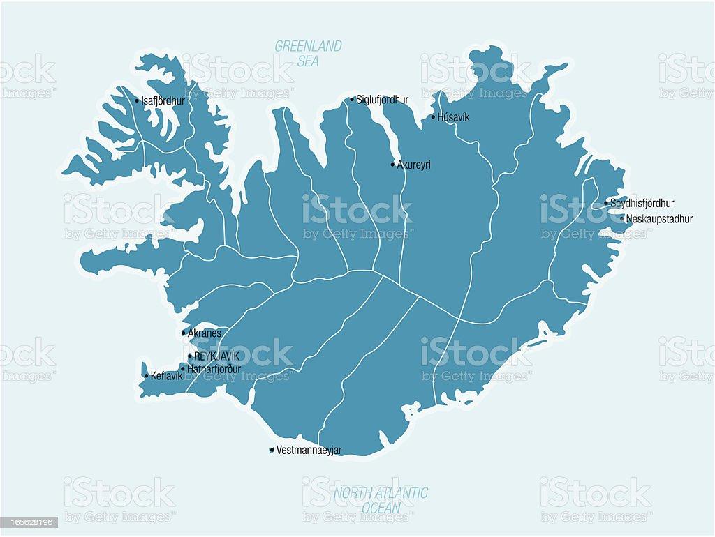 Iceland royalty-free stock vector art