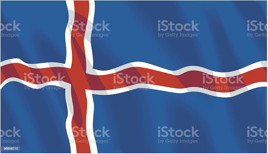 Icelandic Flag royalty-free stock vector art