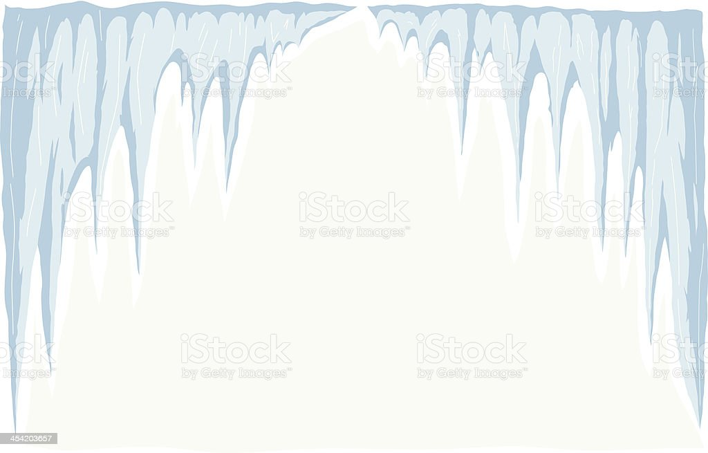 Icicle vector art illustration