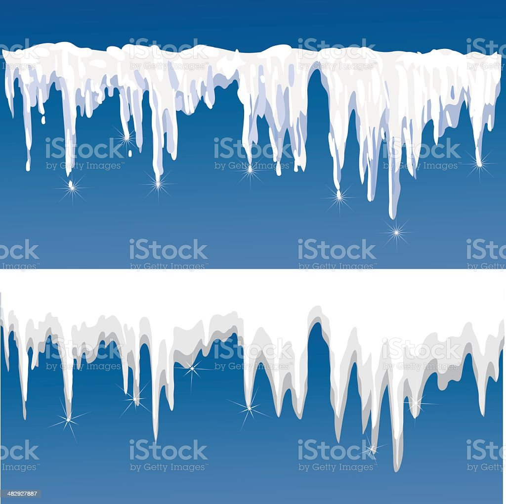 icicles vector art illustration