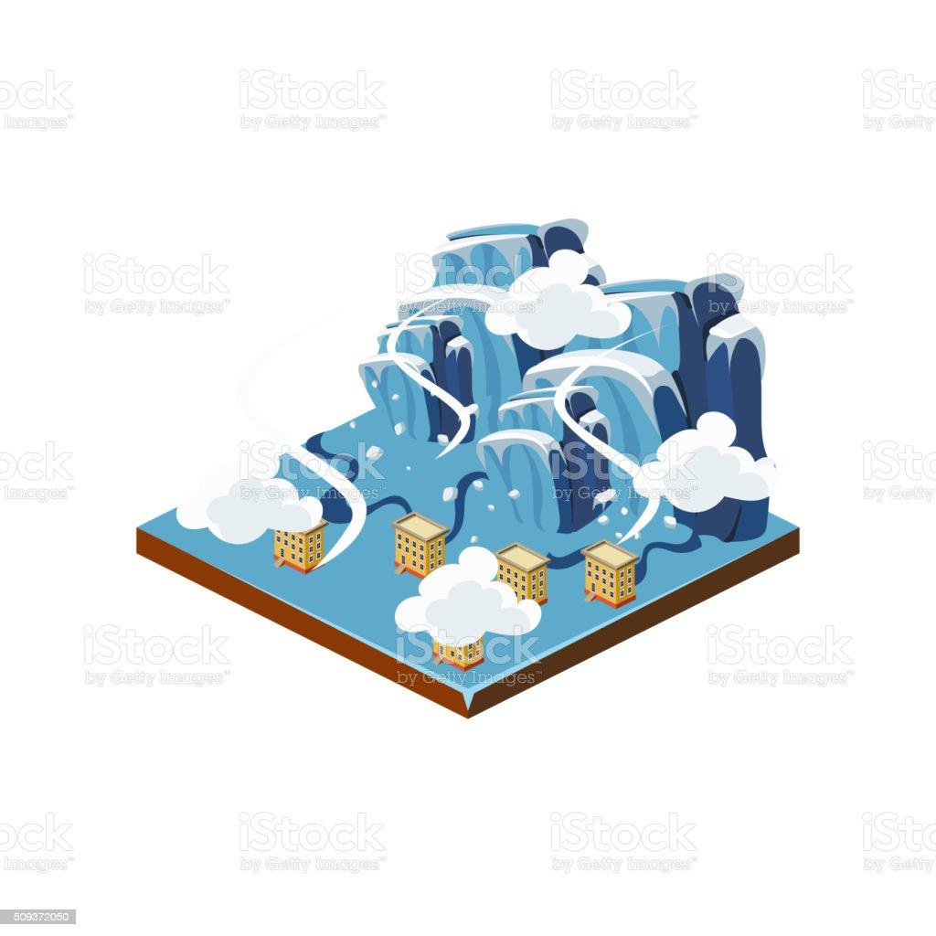 Icing Natural Disaster Icon. Vector Illustration vector art illustration