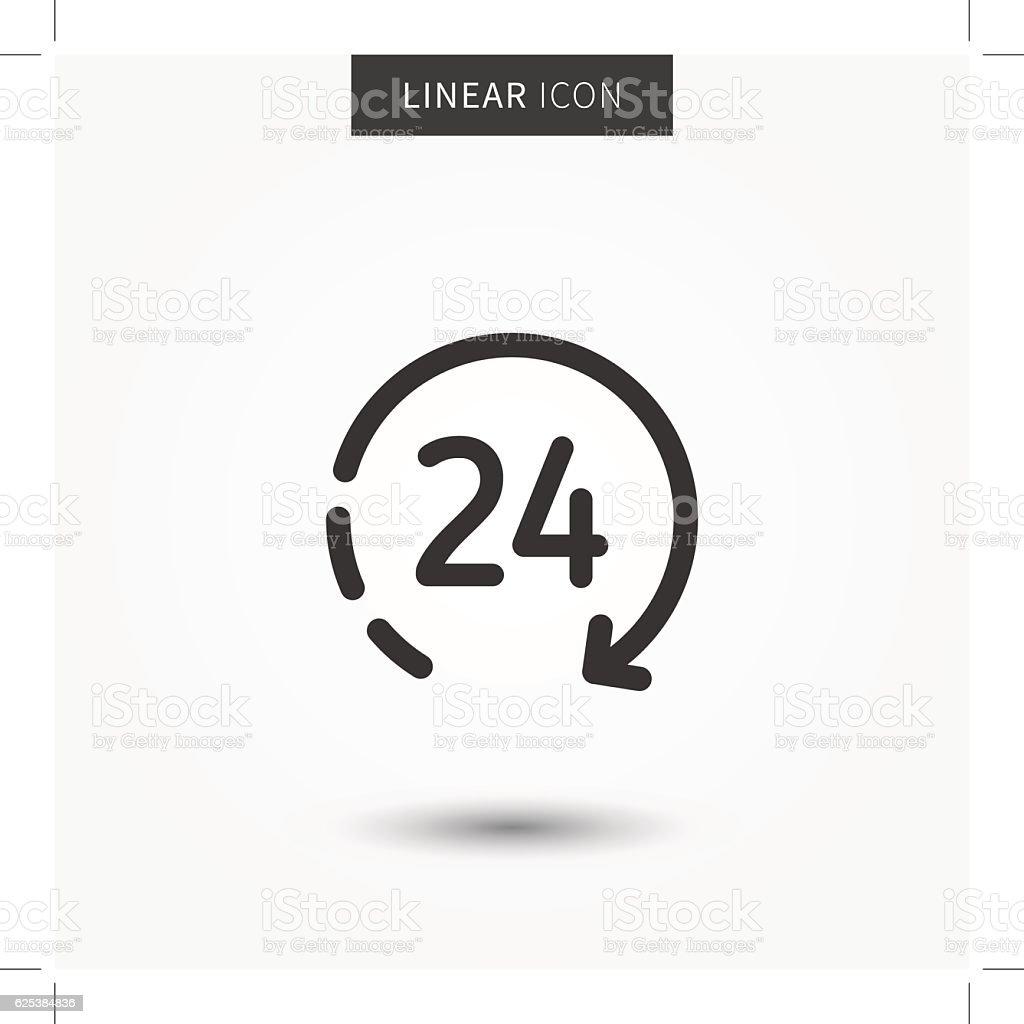 icon 24 hour vector illustration vector art illustration