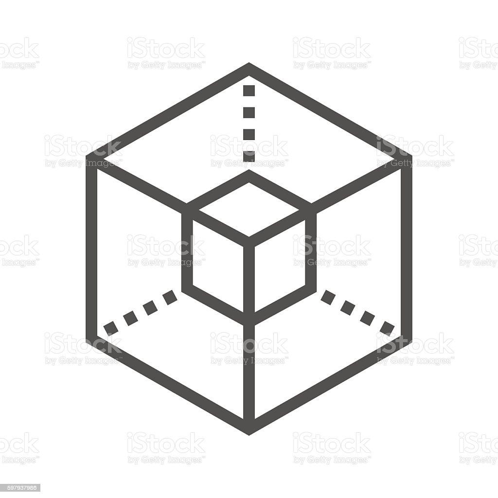 Icon 3D modeling vector art illustration