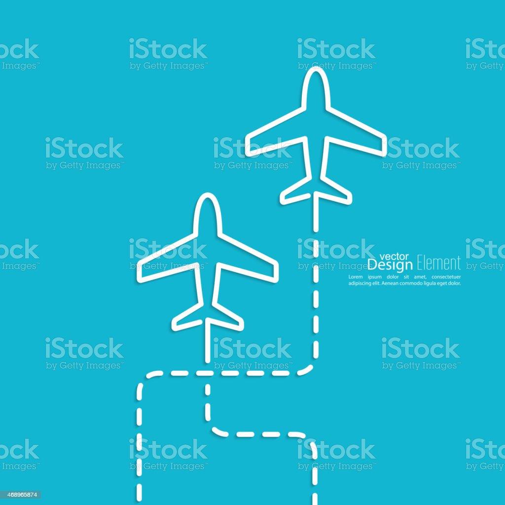 Icon airplane vector art illustration