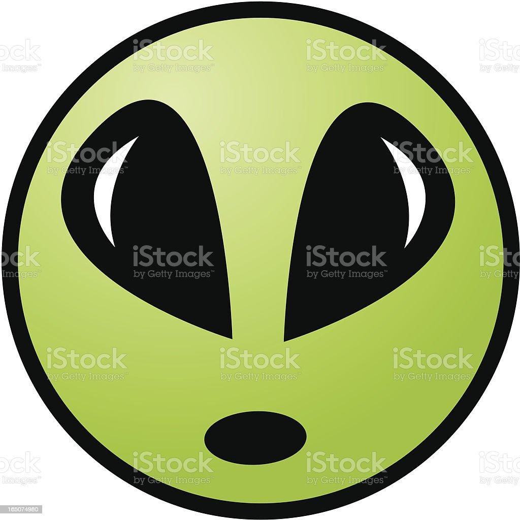 UFO Icon - Alien Head royalty-free stock vector art