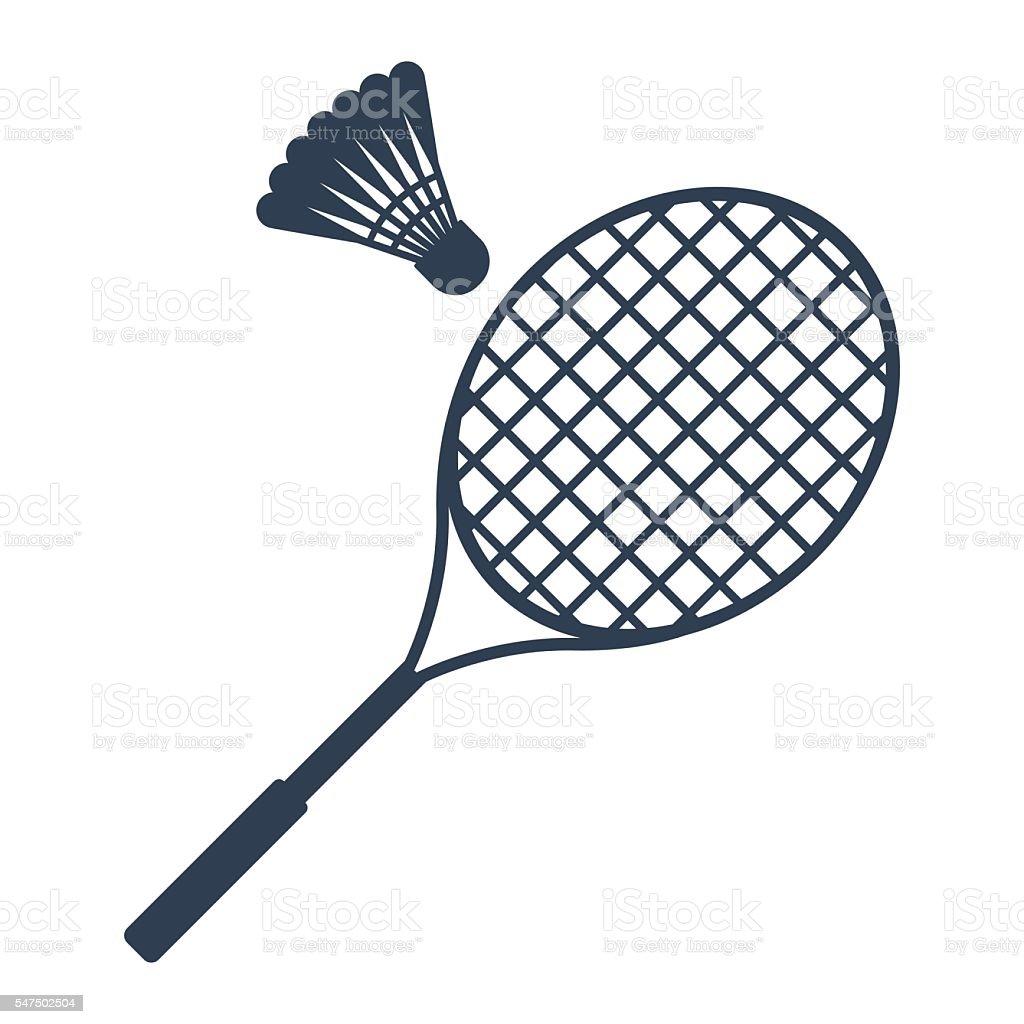 Icon badminton vector vector art illustration