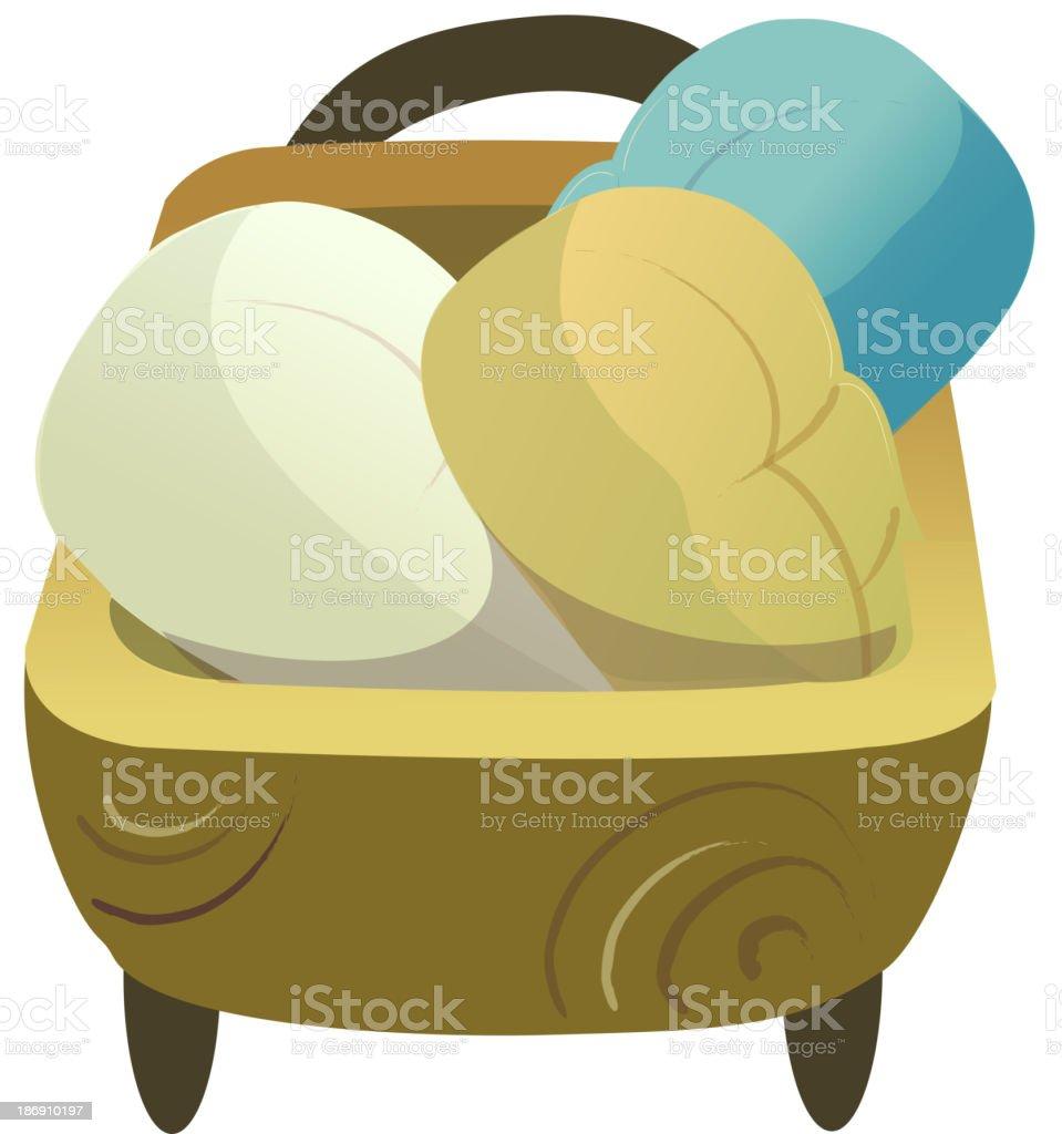 icon basket royalty-free stock vector art