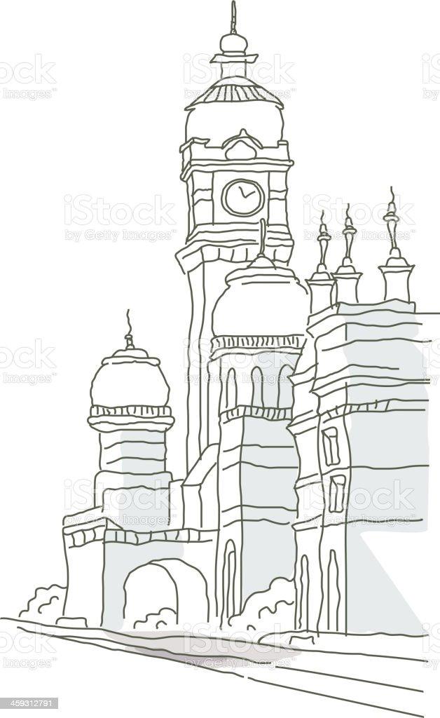 icon building vector art illustration