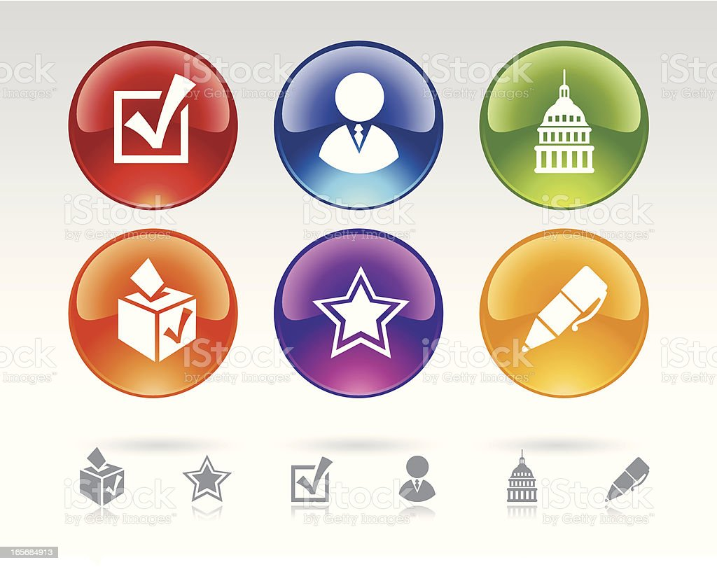Icon Buttons representing Voting royalty-free stock vector art