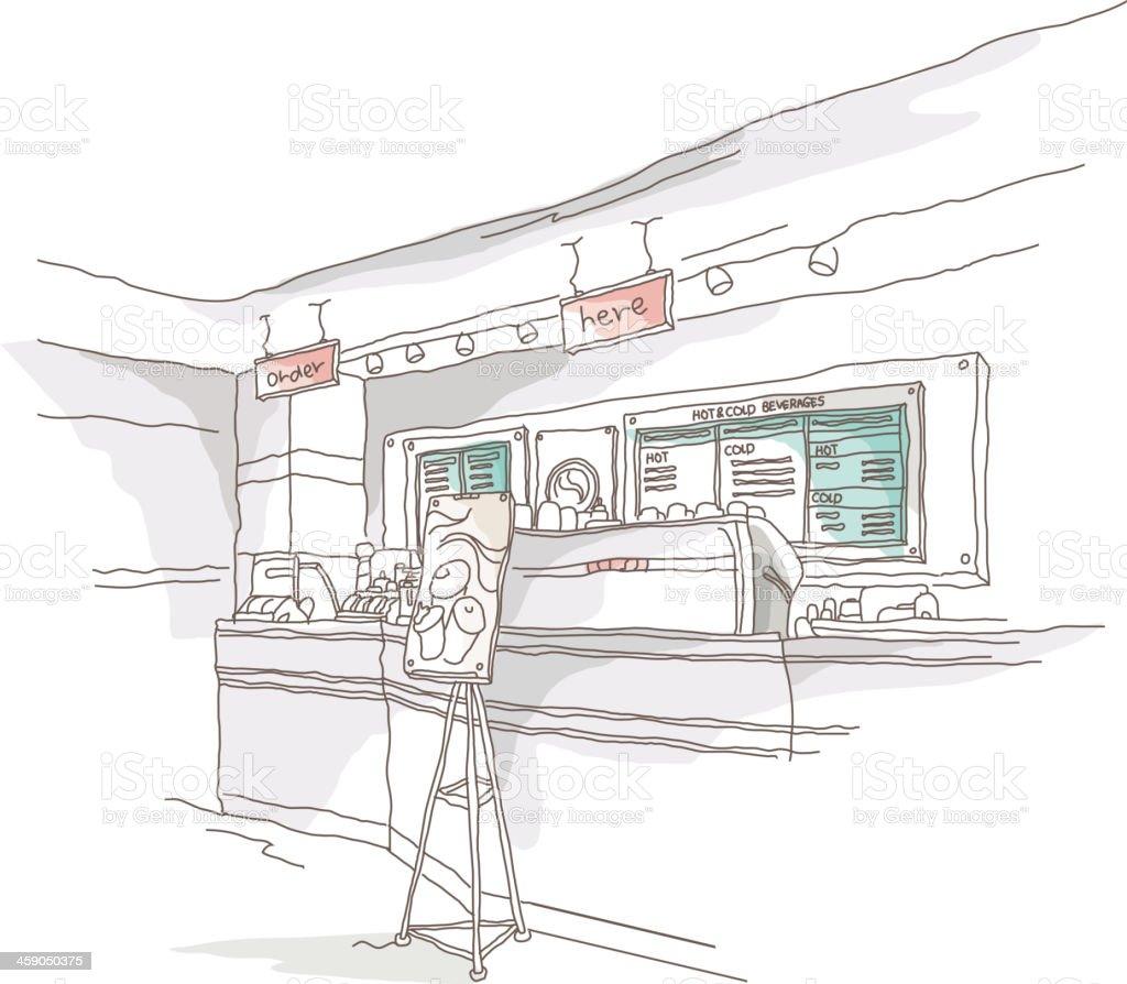 icon cafe vector art illustration