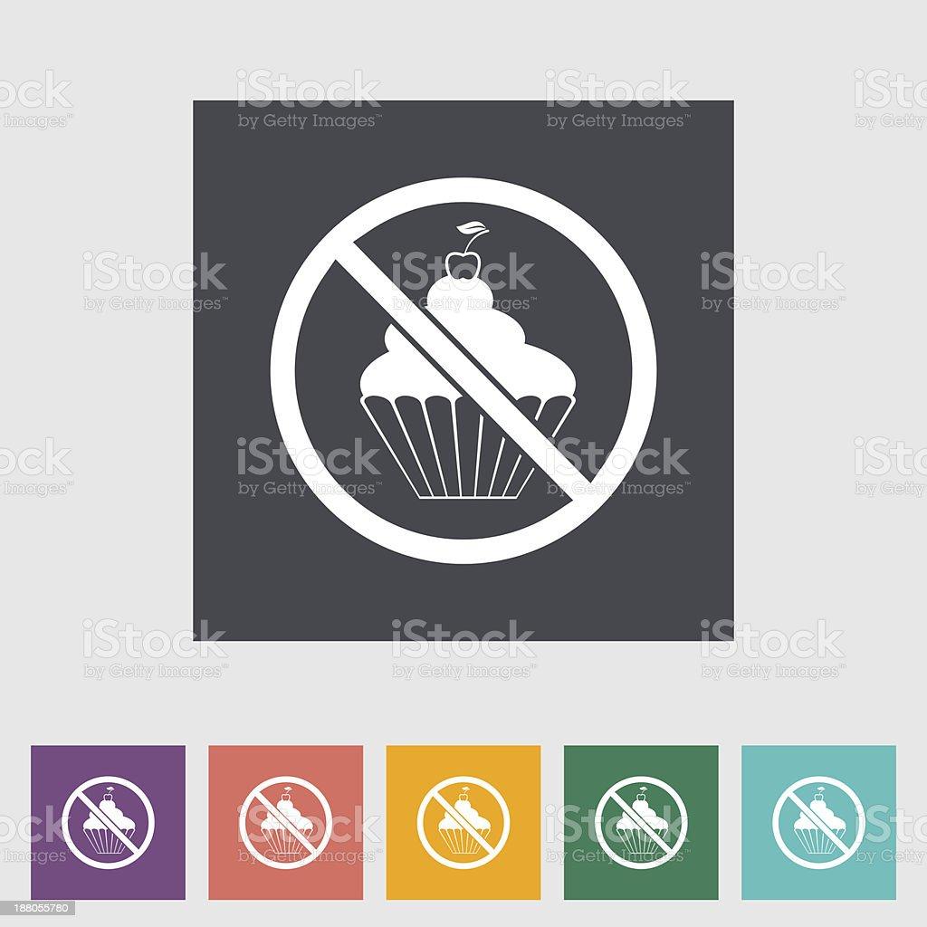 Icon cake. royalty-free stock vector art