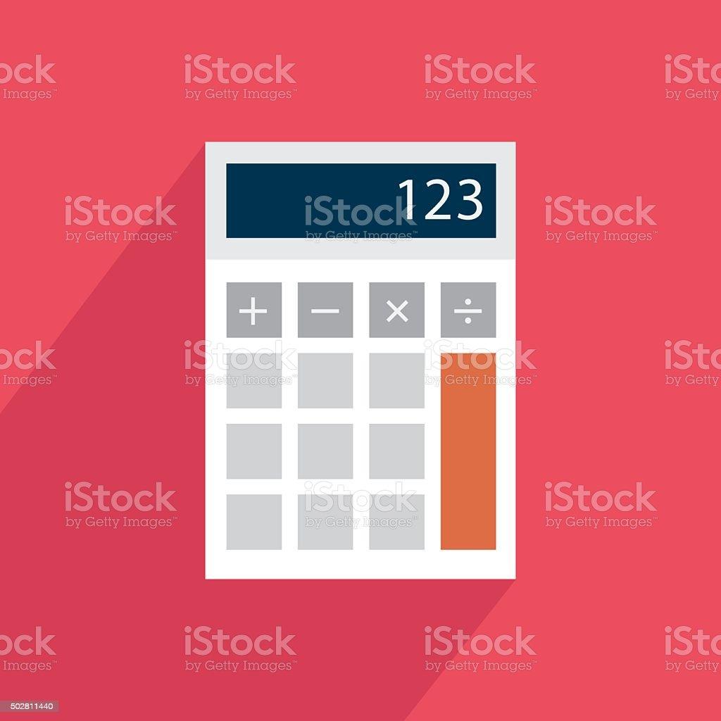 Calculatrice d'icône plate stock vecteur libres de droits libre de droits