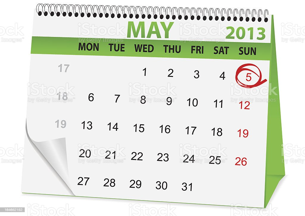 icon calendar for Easter royalty-free stock vector art