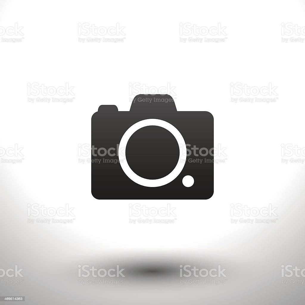 Icon camera vector art illustration