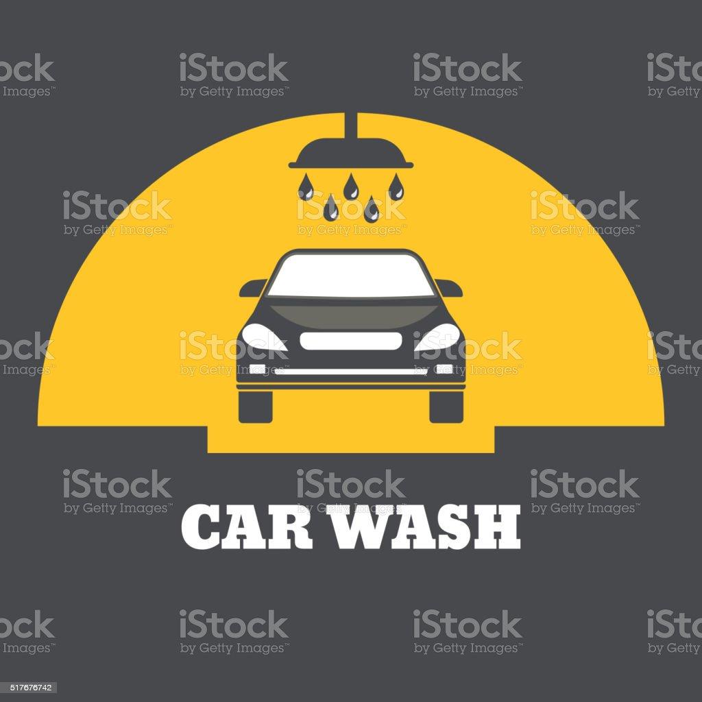 Icon car wash vector art illustration