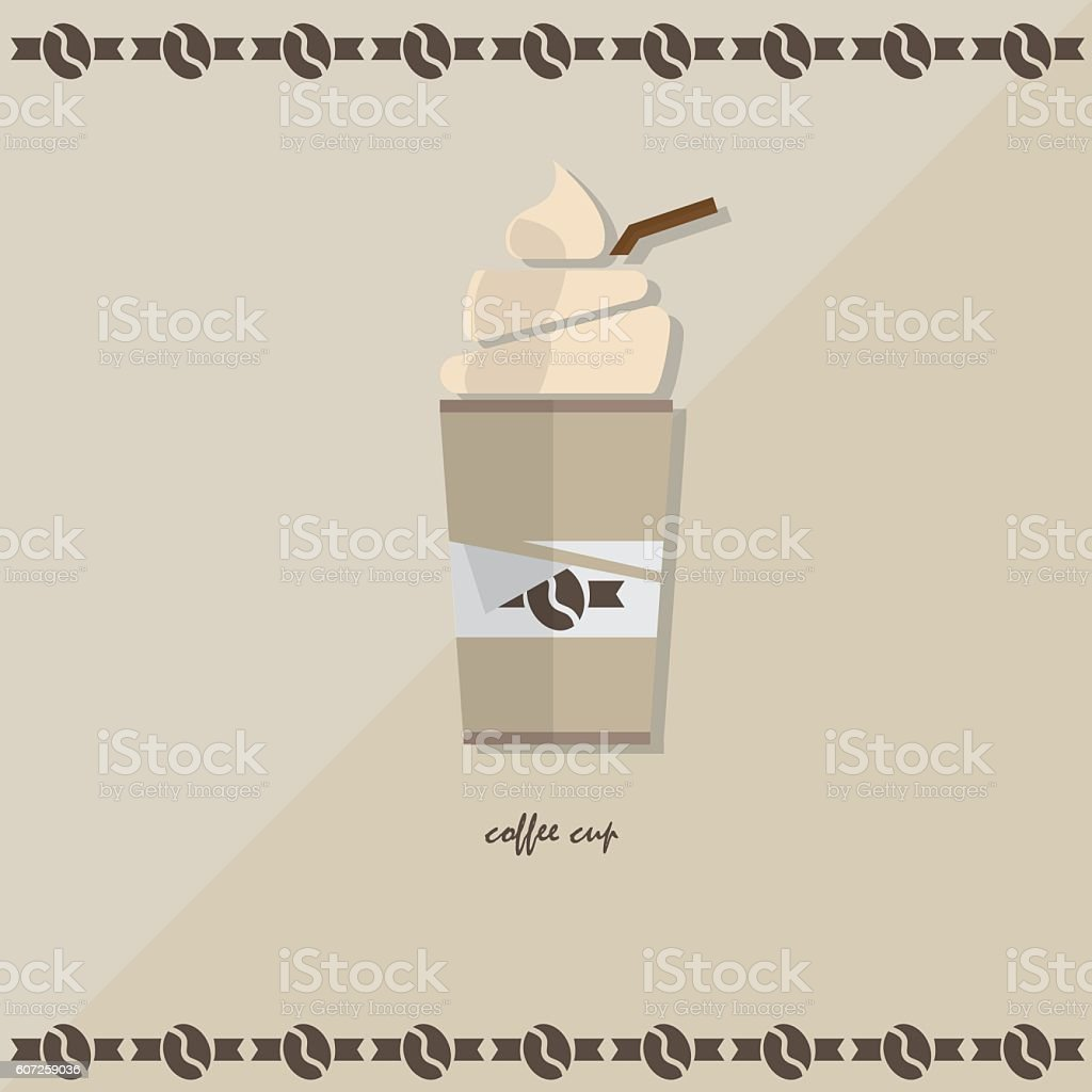icon coffee cup cold vector art illustration