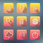 Icon Collection Vector Application Content Concept