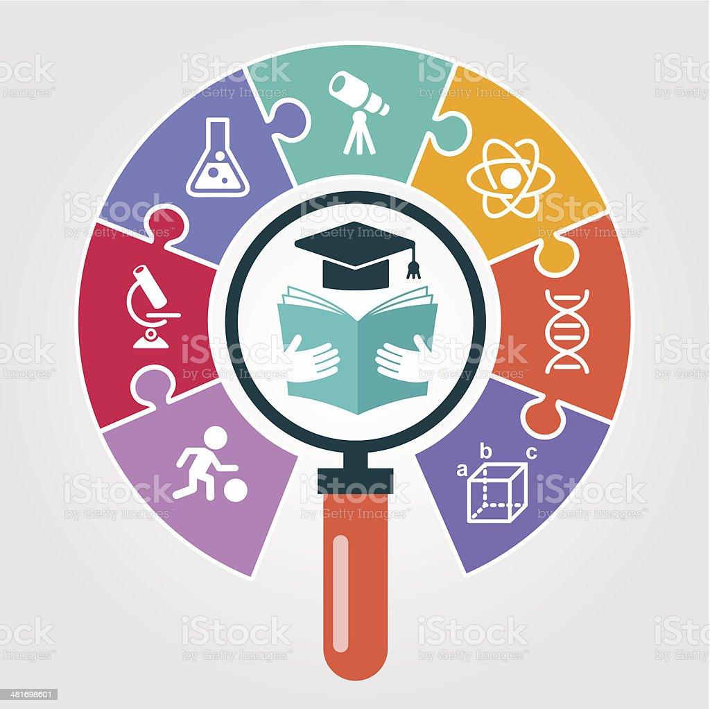 Icon concept education vector art illustration