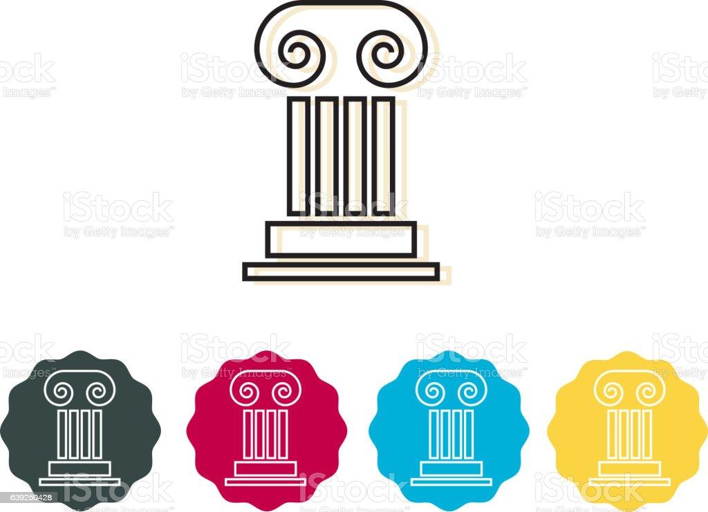 Icon - Corinthian Column vector art illustration