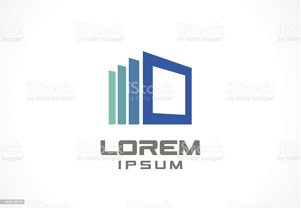 Icon design element. Abstract logo idea for business company. vector art illustration