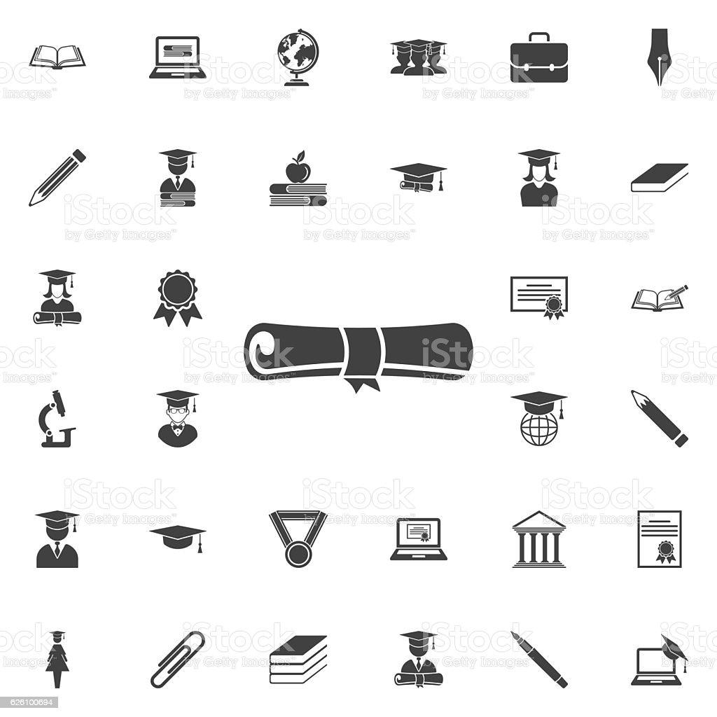 icon diploma vector art illustration