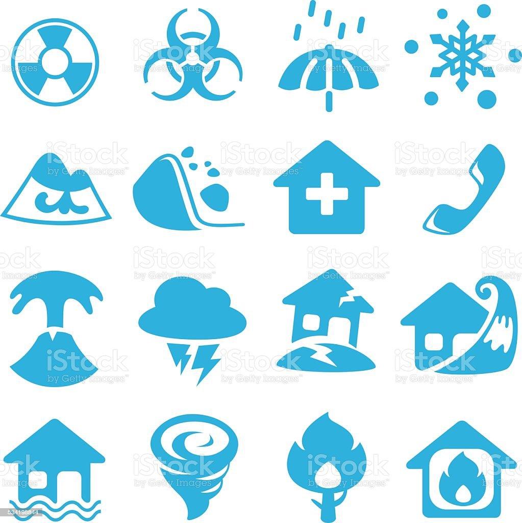 Icon disasters. Flat design. vector art illustration