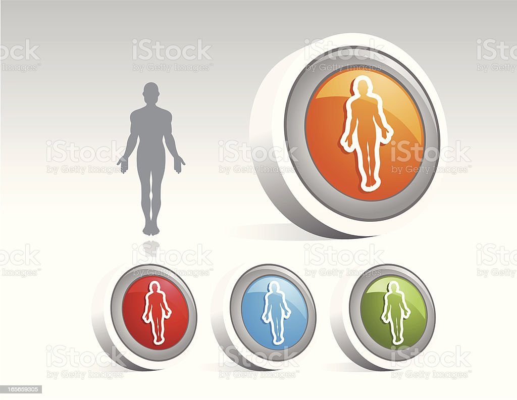 Icon Disc of the Male Form royalty-free stock vector art