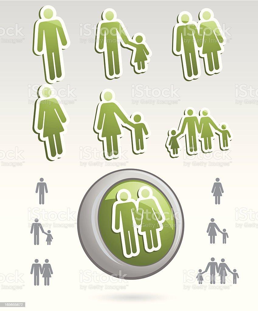 Icon Discs of Family royalty-free stock vector art