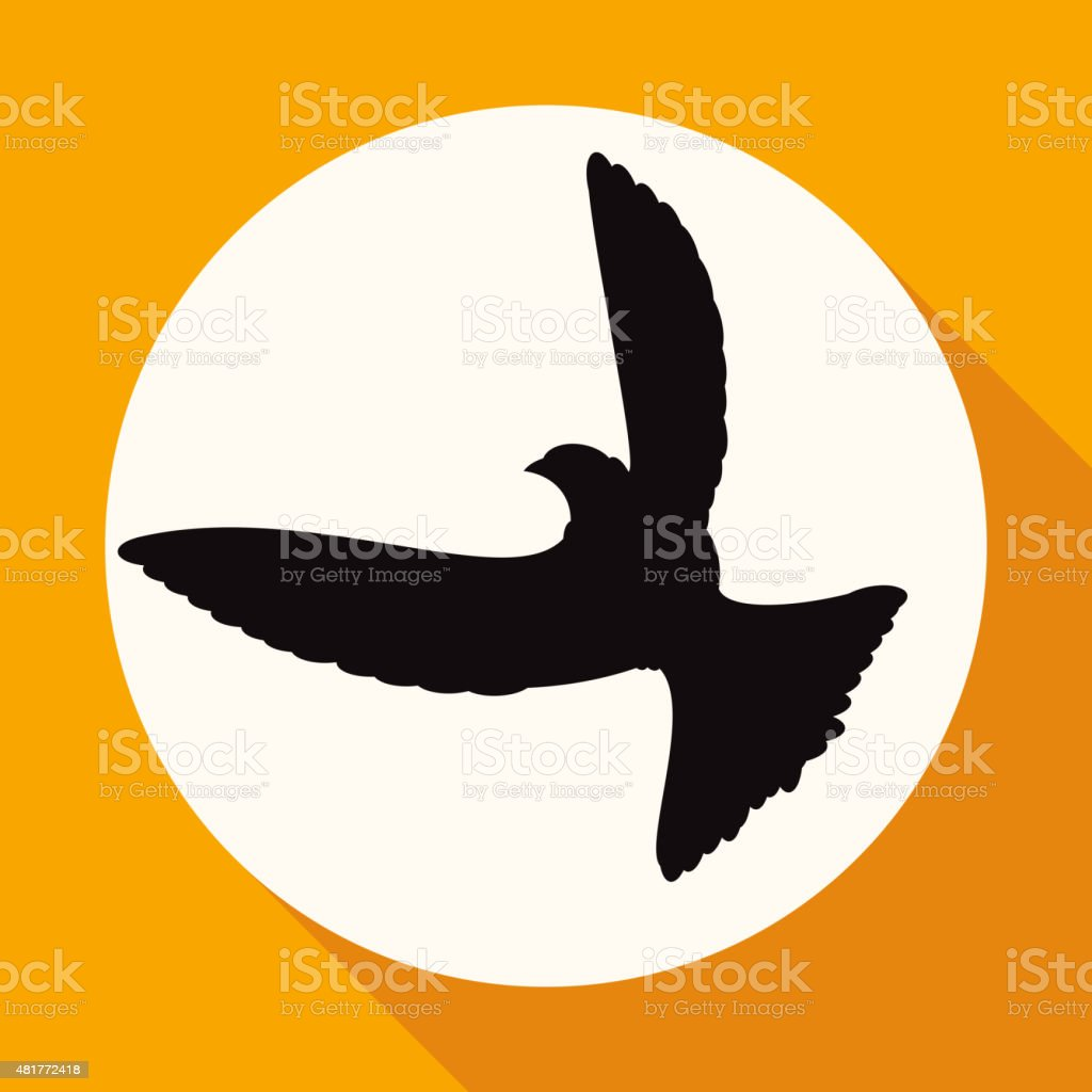 Icon Dove of Peace on white circle with vector art illustration