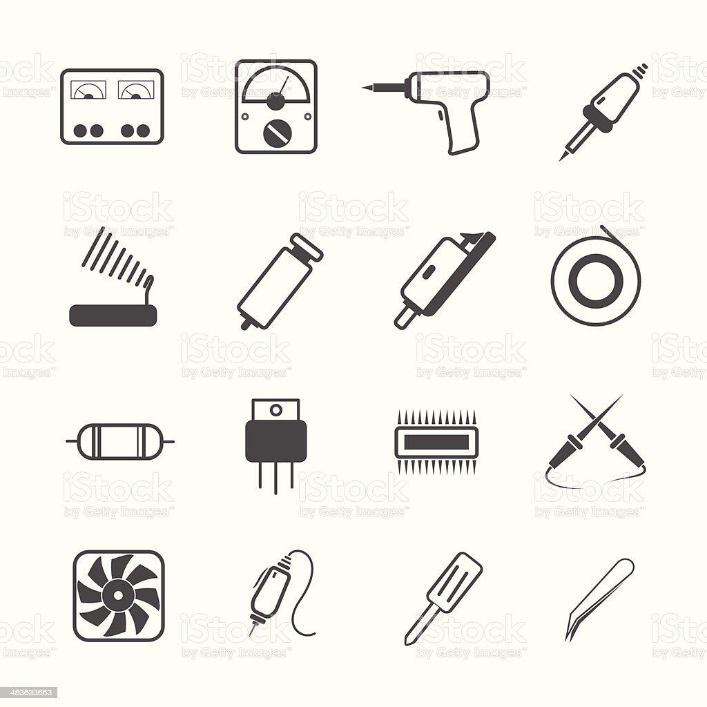 icon electronic repair tool, vector vector art illustration