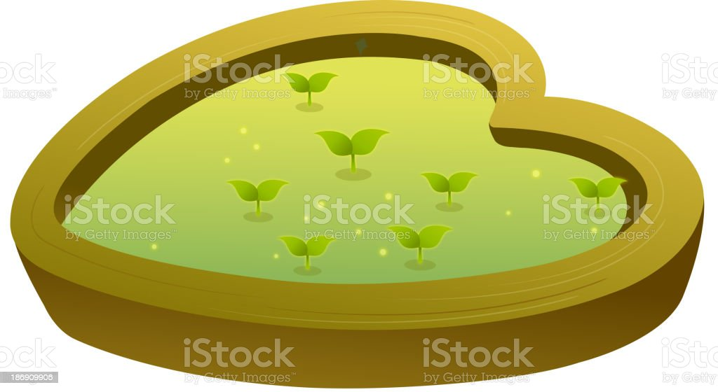 icon flower bed royalty-free stock vector art