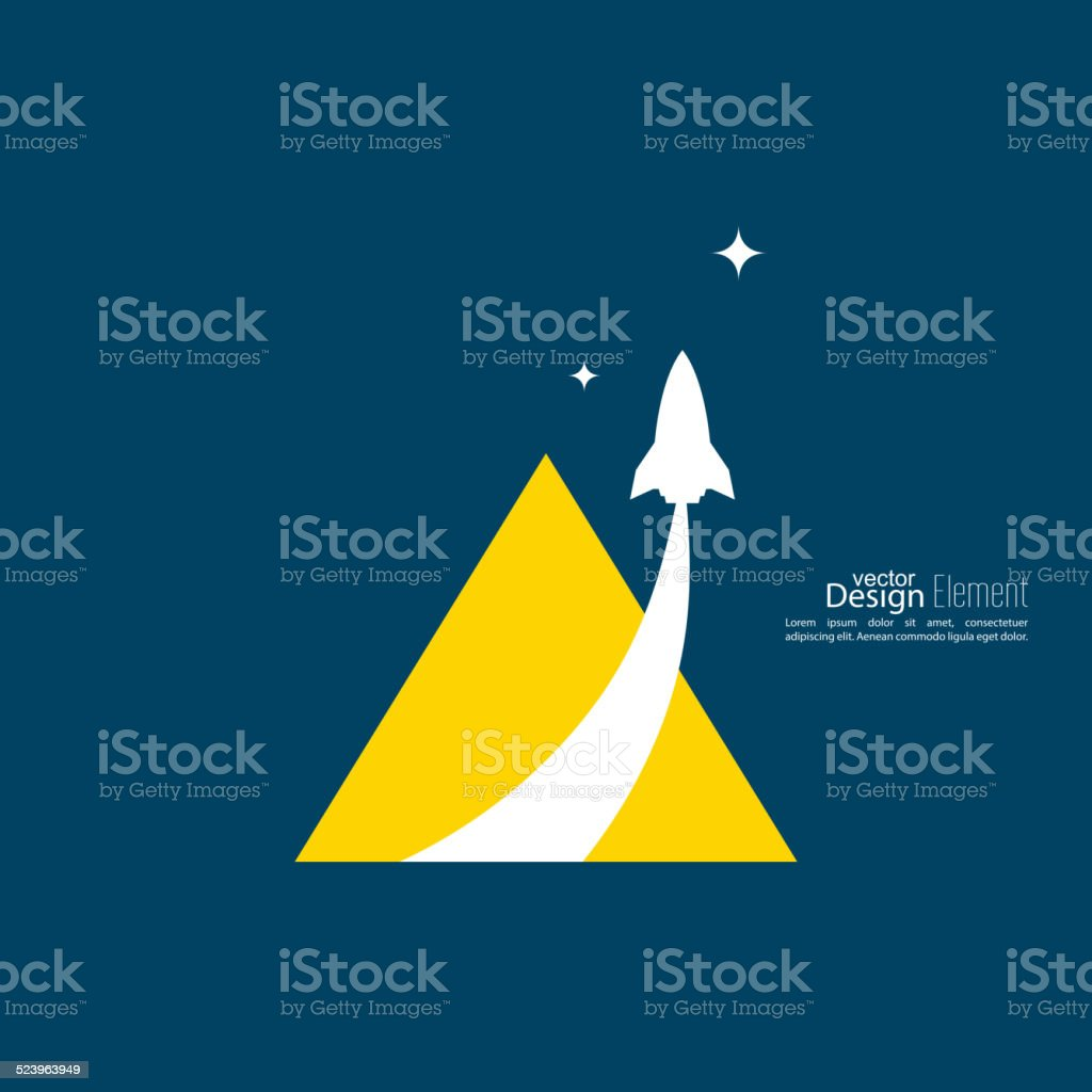 Icon for a startup business project. vector art illustration